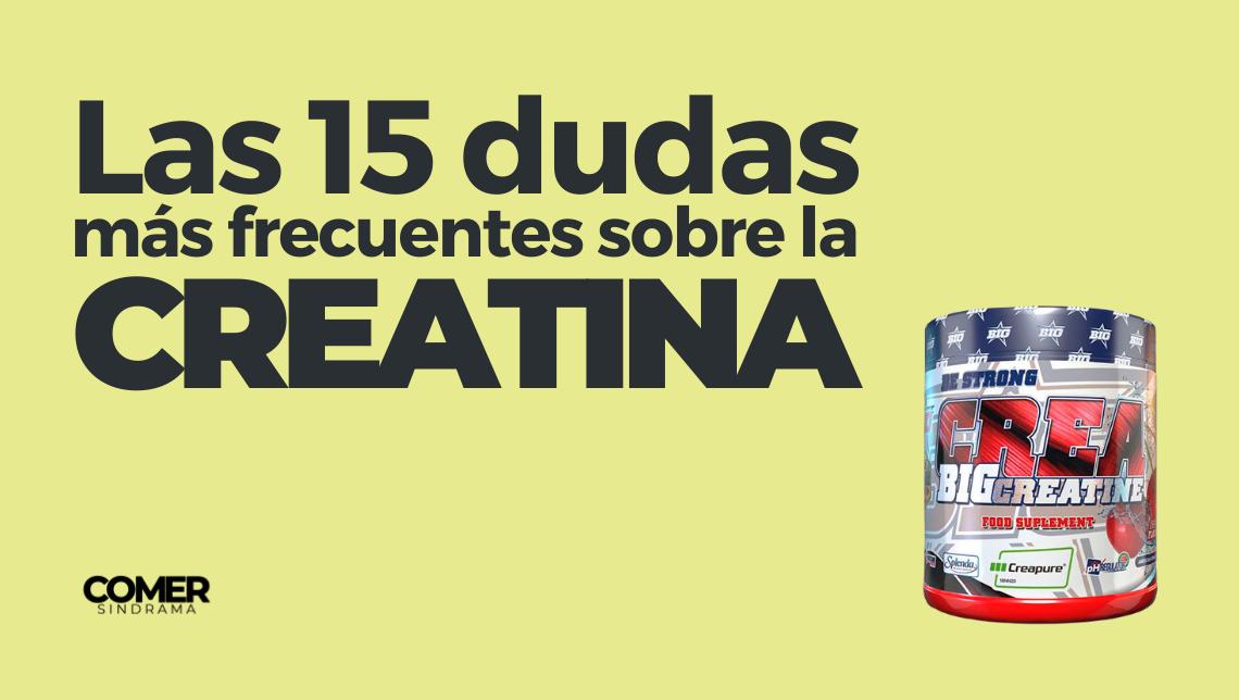 Las 15 dudas más frecuentes sobre la creatina