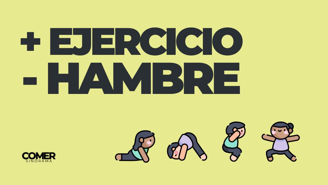 Más ejercicio, menos hambre